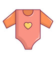 baby girl clothes icon cartoon style vector image