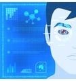Eye Biometrics Scanner Technology Graphic Design vector image