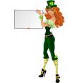 sexy leprechaun girl  vector image vector image