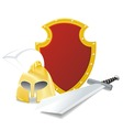 ancient armor vector image vector image