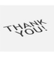 thank you text design vector image