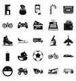 active rest of child icons set simple style vector image