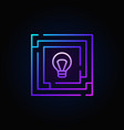 colorful labyrinth with light bulb icon vector image