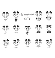 Facial Avatar Emotions Icons Set vector image