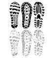 Footprint winter vector image