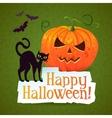 Happy Halloween Pumpkin Greeting Card vector image