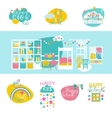 Early educational logotypes set and Classroom vector image