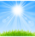 Background with a blue sky vector image vector image