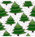 Christmas trees seamless pattern Green vector image