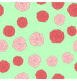 Seamless background of roses pictures vector image