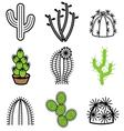 logo icons cactus vector image vector image