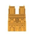 Notre Dame de Paris Cathedral isolated on white vector image