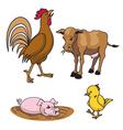 farm animals vector image vector image