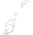 Grenada Black White Map vector image vector image