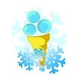 background cold ice cream vector image