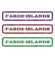 faroe islands watermark stamp vector image