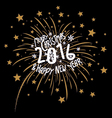 Firework design for christmas and new year 2016 vector image