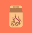 flat icon on background coffee paper package vector image