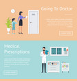 going to doctor posters set vector image
