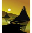 Golden Shores vector image