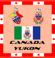 official government elements of canada - yukon vector image