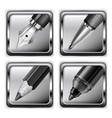 pen icon set 10 v vector image