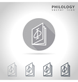 Philology outline icon vector image
