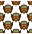 Seamless pattern with Brown owls vector image