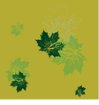 seamless wallpaper green maple leaves vector image