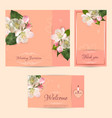 wedding set template light orange vector image
