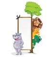 animal frame vector image