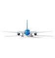 rear plane vector image vector image