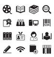 library icons symbol vector image
