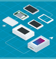 assembly of the phone isometric vector image vector image