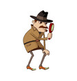 detective with magnifying glass vector image