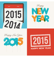 happy new year card set vector image
