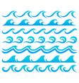 Wave element set vector image