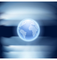 Abstract blue background with globe vector image vector image