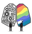 brain left right design vector image