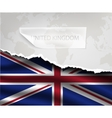paper with hole and shadows UNITED KINGDOM flag vector image