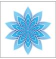 Lotus flower blue vector image