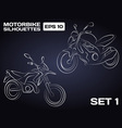 Motorbikes silhouettes vector image vector image