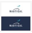 Whale logo design template with abstract water vector image