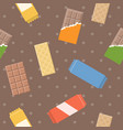 chocolate and wafer pattern vector image