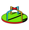 colorful merry-go-round icon icon cartoon vector image