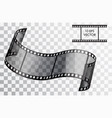 realistic 3d film curved film isolated object on vector image