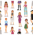 street fashion woman models hand drawn styles vector image