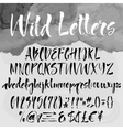 Brush lettering alphabetical set vector image