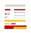 Web Elements Design Set vector image vector image