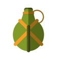 water green canteen equipment camping vector image